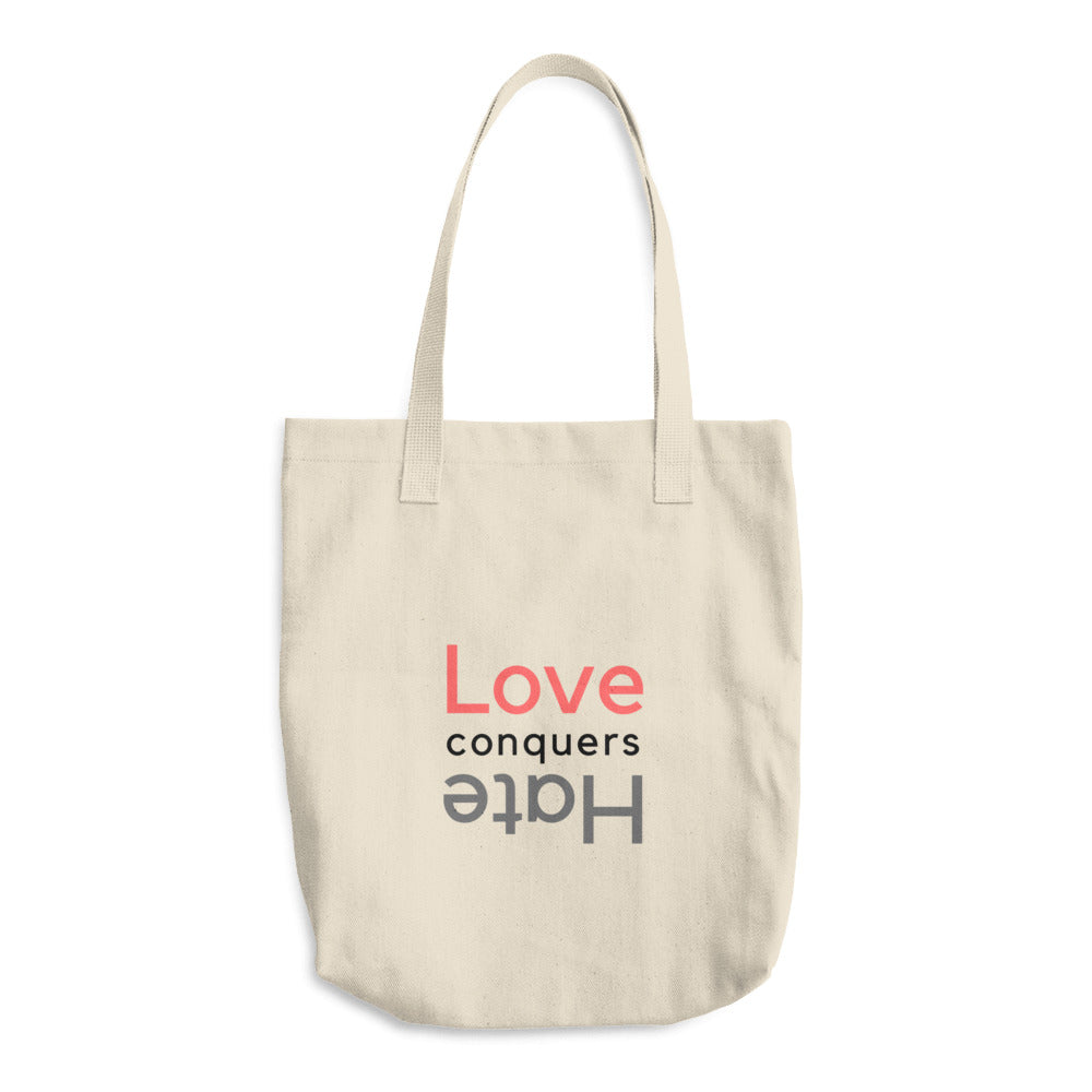Love Conquers Hate Cotton Tote Bag