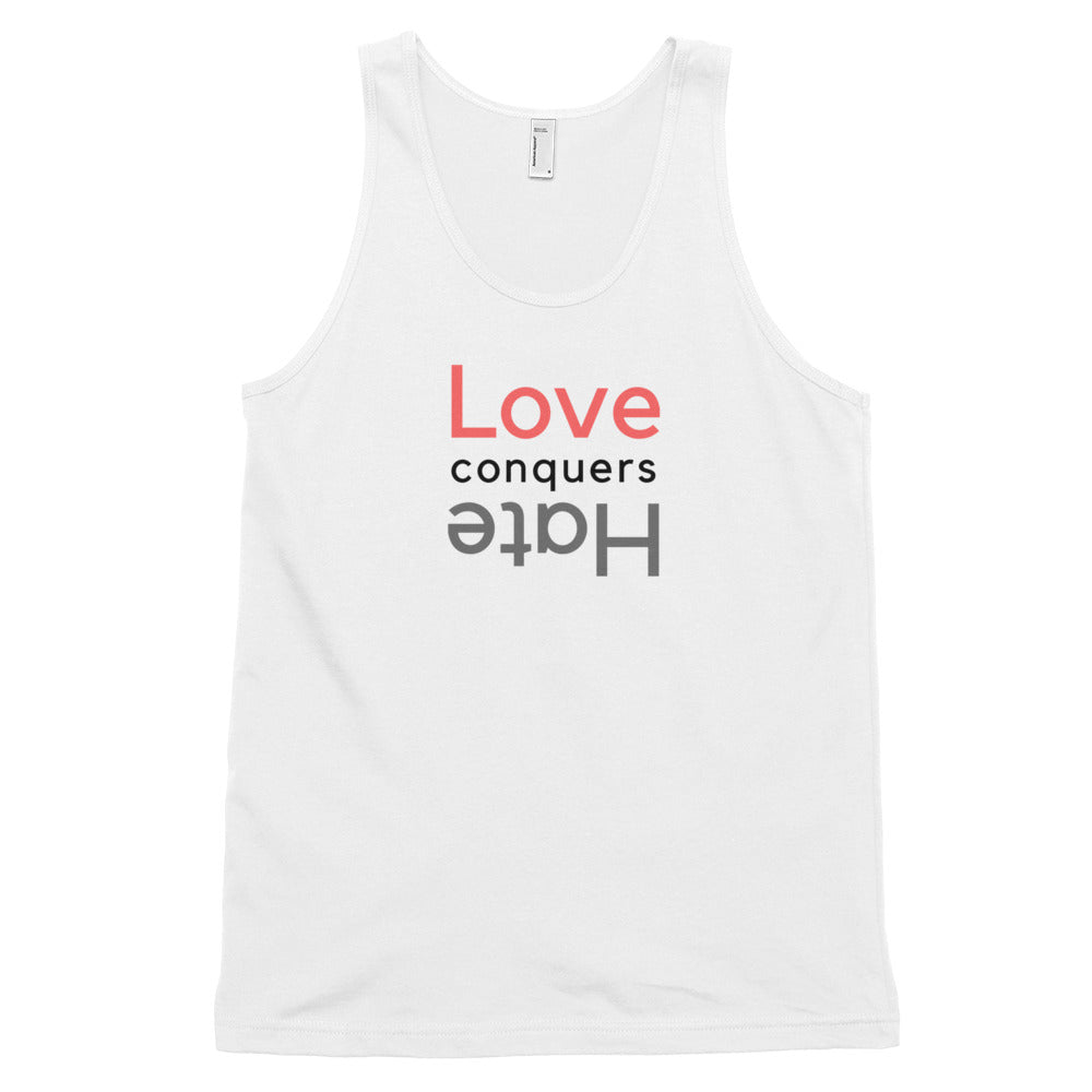 Love Conquers Hate Men's Tank Top