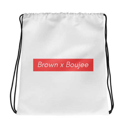 Brown x Boujee Drawstring Bag