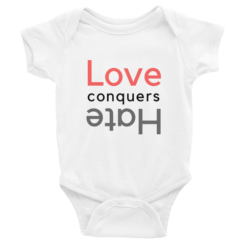 Love Conquers Hate Infant Bodysuit
