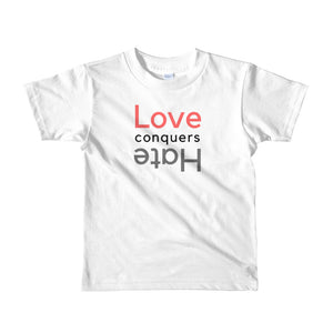 Love Conquers Hate Kids Tee