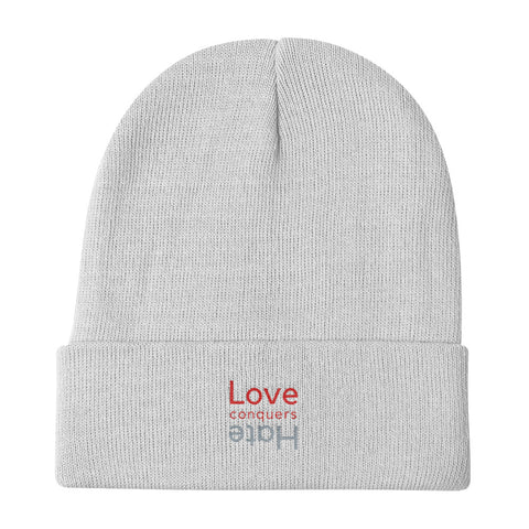 Love Conquers Hate Beanie