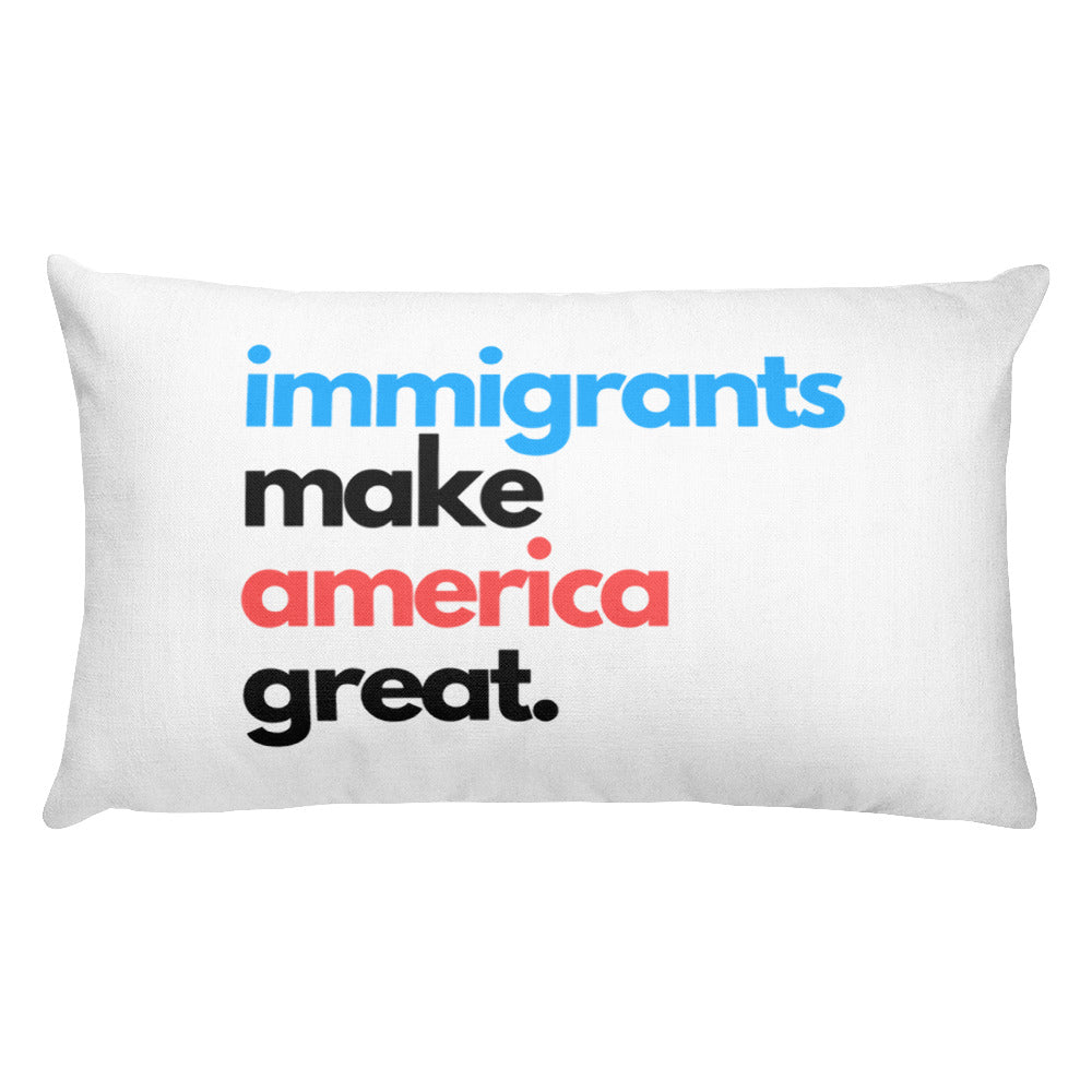 Immigrants Make America Great Rectangular Pillow