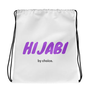 Hijabi By Choice Drawstring Bag
