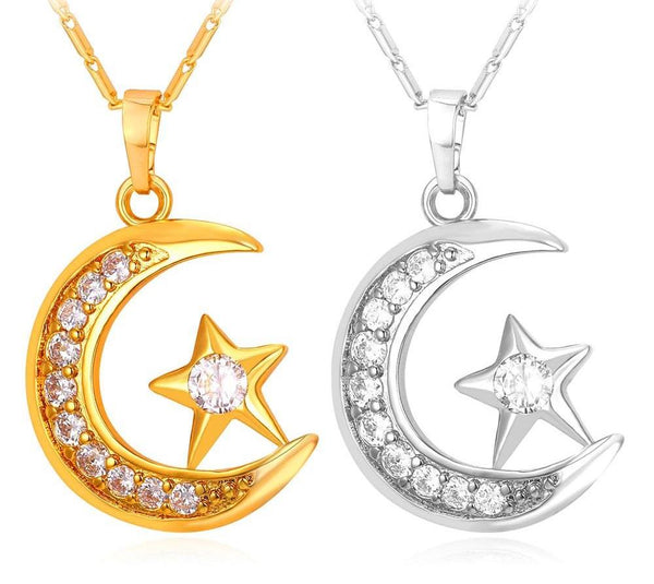 Crescent Pendant Necklace for Women
