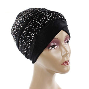 Luxury Studded Velvet Turban - Women's