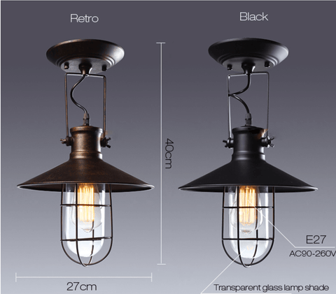 country rustic edison ceiling lamp