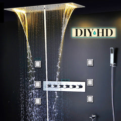 DIYHomeDiscounts Centaur Rainfall Shower System Best Lateral Sprayers Hose Sprayer Stainless Steel High Quality Luxury Bathroom
