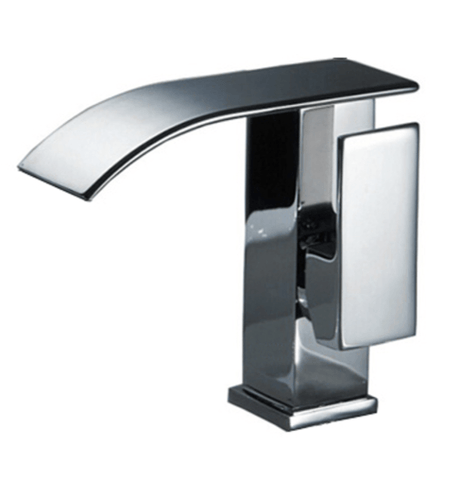 modern sleek chrome faucet