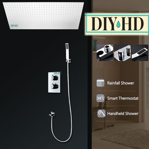 Pegasus Best Huge Shower System 20in 40in 20x40in Rainfall DIYHomeDiscounts with Hand Sprayer