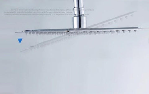 "16"" Rainfall shower head"