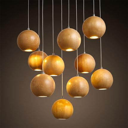 Oak Ceiling Lamps