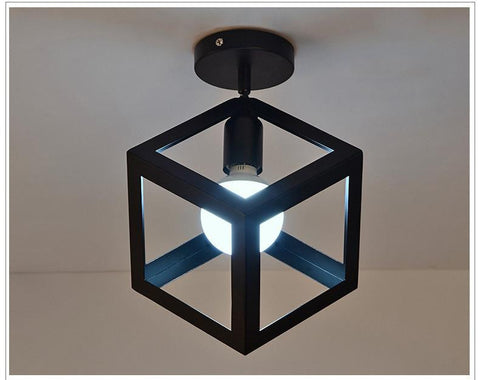 Cube Iron Framed Lamps