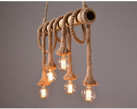 Seaworthy Themed Edison Lamps Rope
