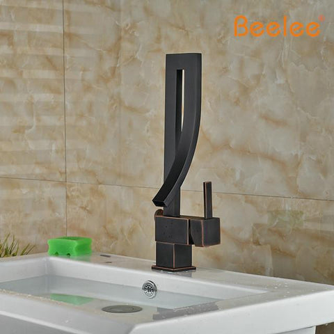 Oil Rubbed Modern Unique Curved Faucet