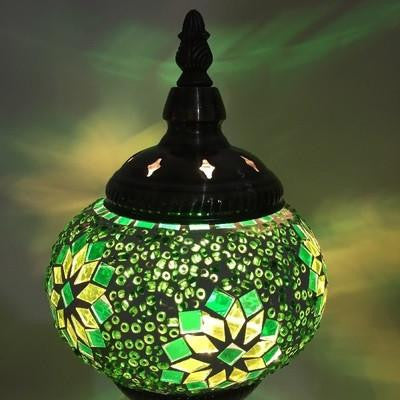 Hand-Made Stained Glass Lamps Green