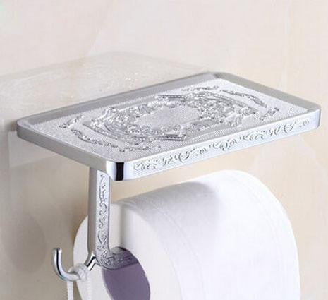 The Luxury Toilet-Paper & Cell Phone Holder