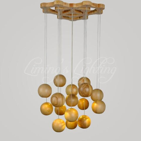 Natural Oak Ceiling Lamp