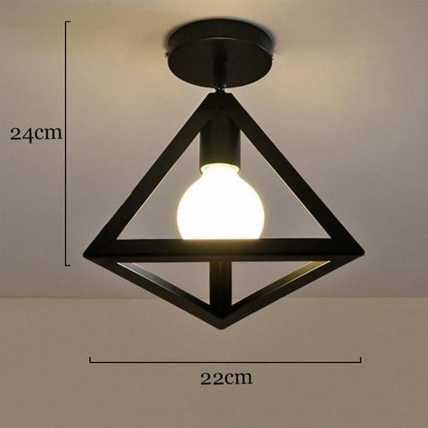 Pyramid Iron Framed Lamps