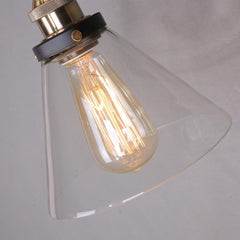 glass edison wall sconce