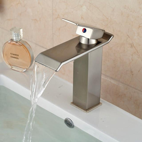 waterfall faucet chrome