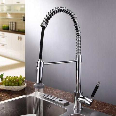 flexible restaurant style sprayer faucet