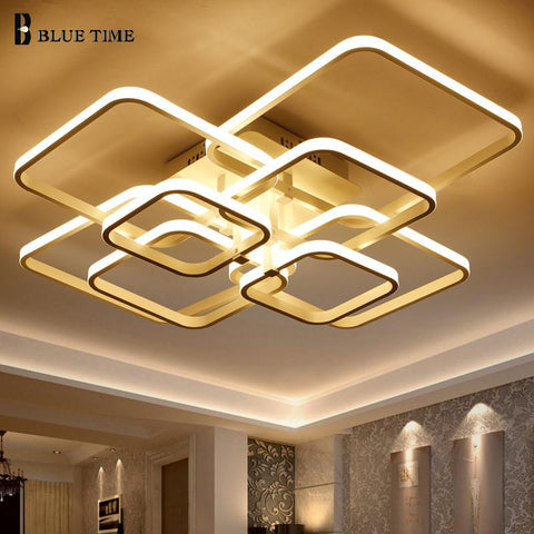 Unique Square Acrylic LED Chandelier