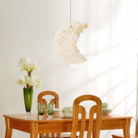 wicker pendant lamp
