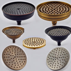 Round rainfall shower heads chrome, bronze, oil-rubbed, brass