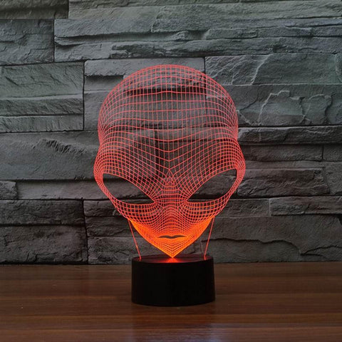 Unique 3D Alien LED USB Lamp