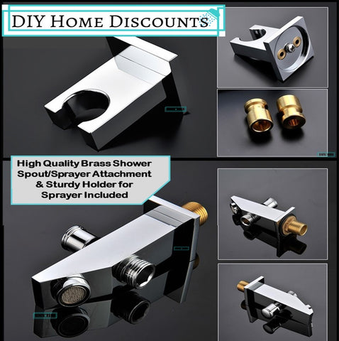 Huge LED Rainfall Shower Set System Best with Sprayer and Lateral jets DIYHomeDiscounts Unicorn DIYHD