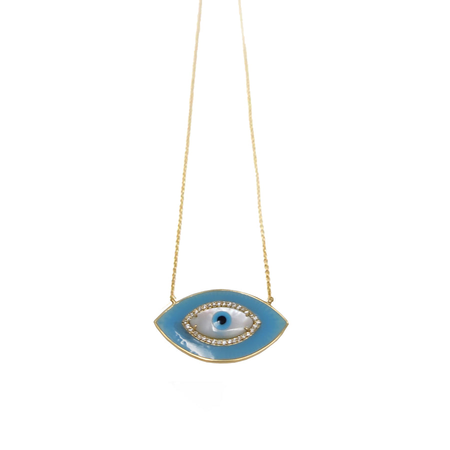 SKY BLUE ENAMEL EYE
