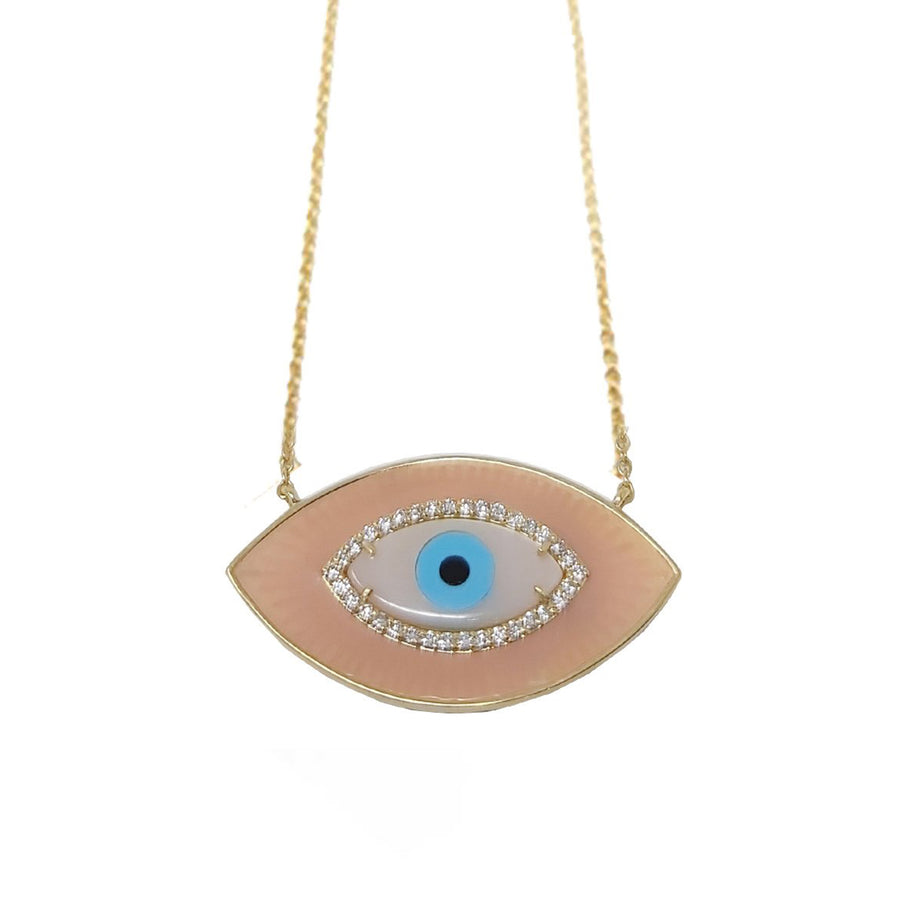 LIGHT CORAL ENAMEL EYE
