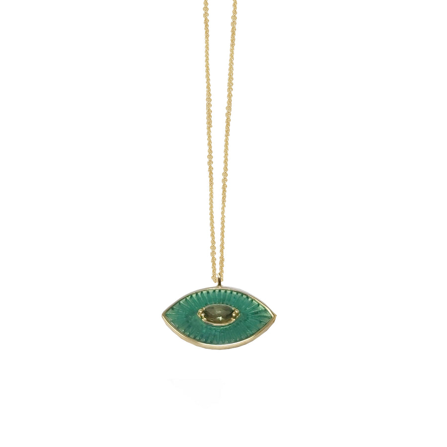 EMERALD GREEN ENAMEL EYE