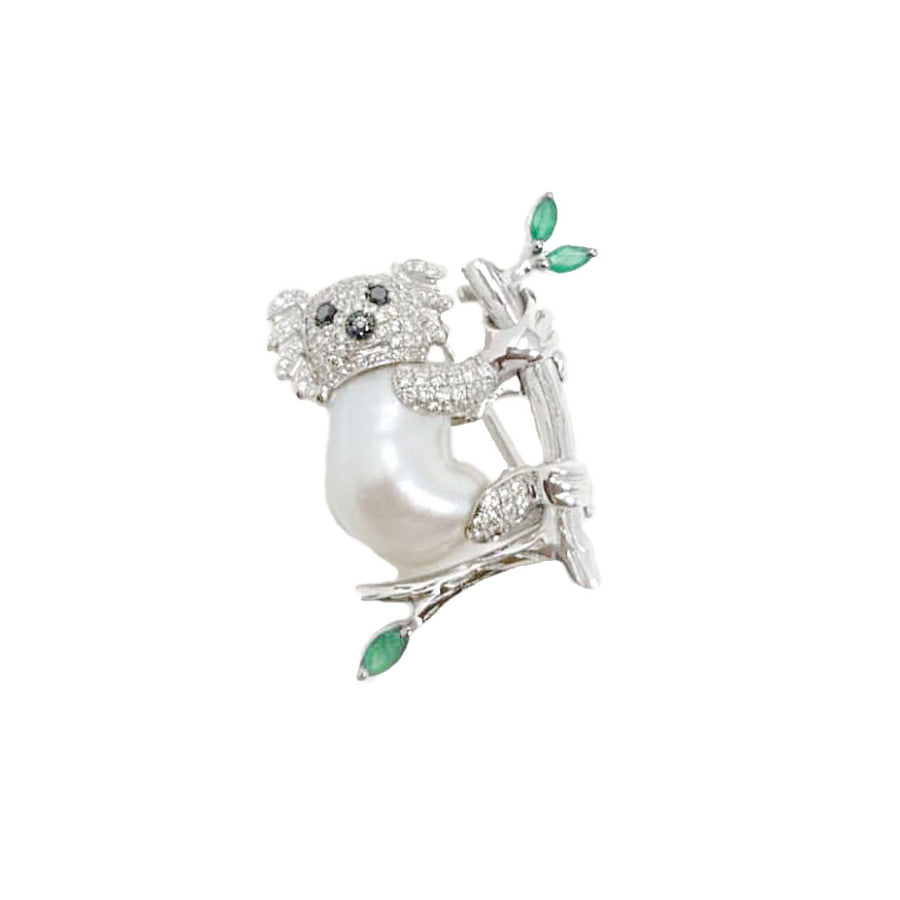 Koala Cultured Pearl Brooch [ GET A QUOTE ]