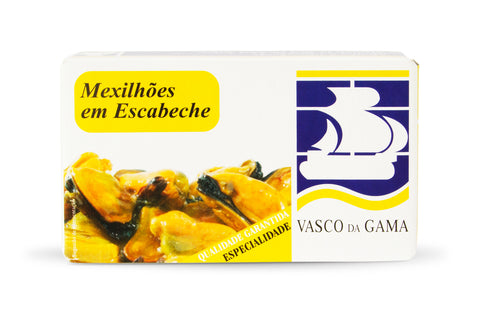 Mussels in red pickled sauce | Mexilhões em escabeche