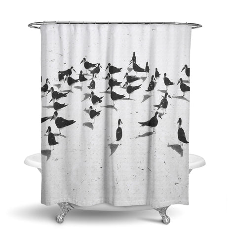 Unique Designer Fabric Shower Curtain Of A Black Skimmer Seagull. Great  Gift Idea For Bird