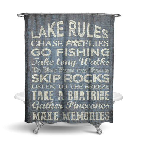 Unique Designer Fabric Shower Curtain Artwork Of All The Rules That Should Be Abided By To