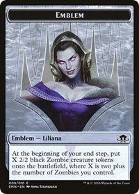 Emblem - Liliana, the Last Hope [Eldritch Moon Tokens] | Game Haven