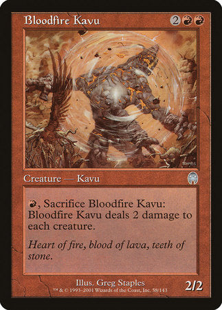 Bloodfire Kavu [Apocalypse] | Game Haven