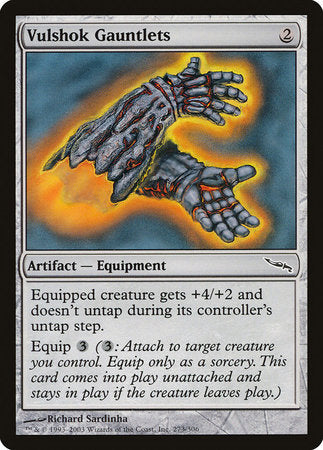 Vulshok Gauntlets [Mirrodin] | Game Haven