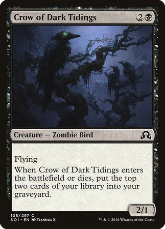 Crow of Dark Tidings [Shadows over Innistrad] | Game Haven