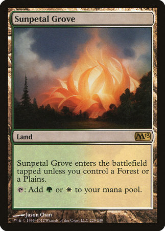 Sunpetal Grove [Magic 2013] | Game Haven