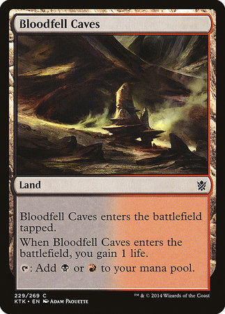 Bloodfell Caves [Khans of Tarkir] | Game Haven