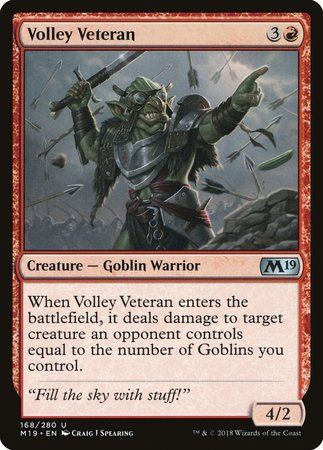 Volley Veteran [Core Set 2019] | Game Haven