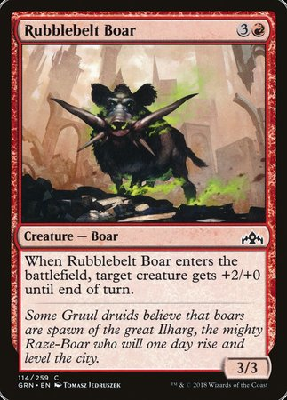 Rubblebelt Boar [Guilds of Ravnica] | Game Haven