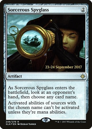 Sorcerous Spyglass [Ixalan Promos] | Game Haven