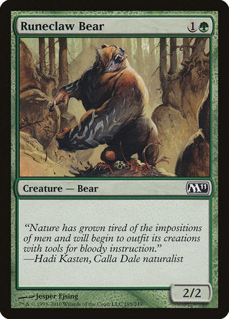 Runeclaw Bear [Magic 2011] | Game Haven