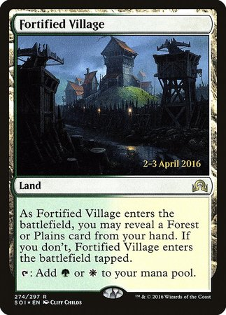 Fortified Village [Shadows over Innistrad Promos] | Game Haven