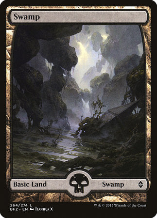 Swamp (264) - Full Art [Battle for Zendikar] | Game Haven